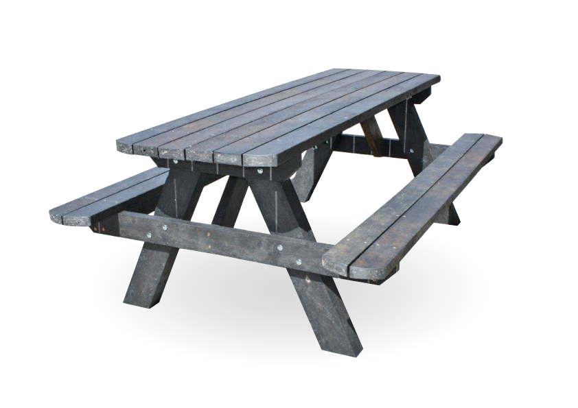 Recycled Furniture Picnic Table With Benches Plastic Building - Picnic table supplies